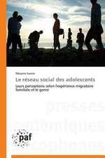 Le réseau social des adolescents