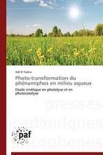 Photo-transformation du phénamiphos en milieu aqueux