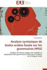 Analyse Syntaxique de Textes Arabes Basee Sur Les Grammaires Hpsg:  Cas Du Riz de Kovie Au Togo