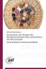 Evaluation du Risque de Remboursement des Institutions de Microcrédit