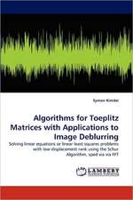 Algorithms for Toeplitz Matrices with Applications to Image Deblurring