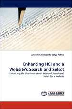 Enhancing HCI and a Website's Search and Select