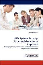HRD System Activity: Structural-Functional Approach