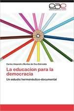 La Educacion Para La Democracia:  Transgresion O Error?