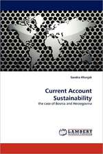 Current Account Sustainability