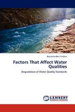 Factors That Affect Water Qualities