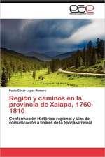 Region y Caminos En La Provincia de Xalapa, 1760-1810:  Aspectos Neuropsicologicos
