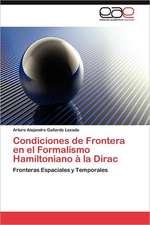 Condiciones de Frontera En El Formalismo Hamiltoniano a la Dirac:  Un Grito de Libertad