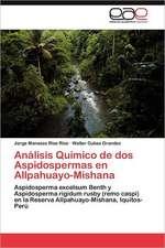 Analisis Quimico de DOS Aspidospermas En Allpahuayo-Mishana:  Un Espacio Comun Entre DOS Continentes