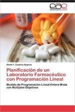 Planificacion de Un Laboratorio Farmaceutico Con Programacion Lineal:  Palmstrom, Palma Kunkel, Gingganz