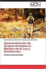 Desmovilizacion de Grupos Armados Al Margen de La Ley y Reinsercion:  Analisis Estadistico y Evidencia Empirica