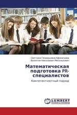 Matematicheskaya podgotovka PR-spetsialistov