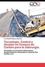 Tecnologia, Control y Gestion En Compra de Carbon Para La Siderurgia.