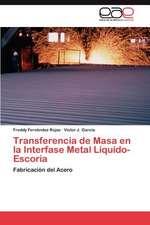 Transferencia de Masa En La Interfase Metal Liquido-Escoria