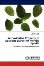 Antioxidative Property of Aqueous Extract of Mentha piperita