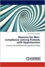 Reasons for Non-compliance among Patients with Hypertension