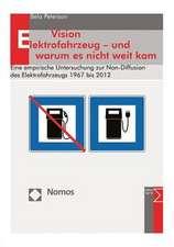 Vision Elektrofahrzeug - Und Warum Es Nicht Weit Kam:  Eine Empirische Untersuchung Zur Non-Diffusion Des Elektrofahrzeugs 1967 Bis 2012