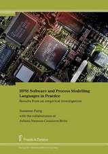 Bpm Software and Process Modelling Languages in Practice. Results from an Empirical Investigation:  History of Science, Ict and Inquiry Based Science Teaching