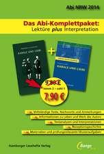 Kabale und Liebe - Das Abi-Komplettpaket: Lektüre plus Interpretation.