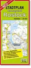 Stadtplan Hansestadt Rostock 1 : 20 000
