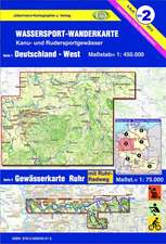 Wassersport-Wanderkarte 02. Deutschland West 1 : 450 000