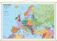 Staaten Europas, politisch. Wandkarte Mini-Format
