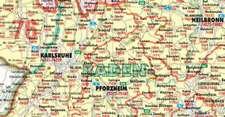 Bacher. Postleitzahlenkarte Deutschland 1 : 700 000. Poster-Karte