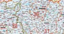 Bacher Postleitzahlenkarte Deutschland Nord 1 : 500 000. Posterkarte