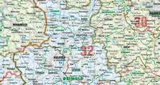 Bacher Orga-Karte Deutschland Nord 1 : 500 000. Poster-Karte