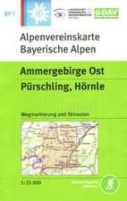 DAV Alpenvereinskarte Bayerische Alpen 07. Ammergebirge Ost 1 : 25 000