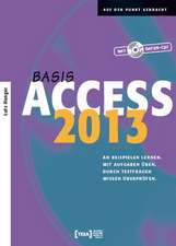 Access 2013 Basis Buch