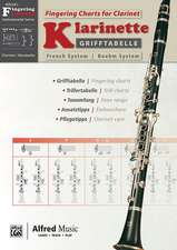 Grifftabelle Klarinette Boehm System | Fingering Charts for Bb-Clarinet French System