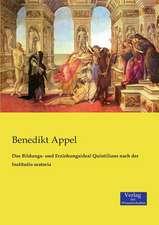Das Bildungs- und Erziehungsideal Quintilians nach der Institutio oratoria