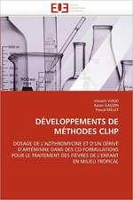 Developpements de Methodes Clhp
