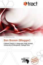 BEN BROWN (BLOGGER)
