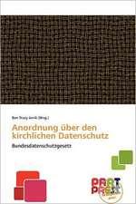 GER-ANORDNUNG BER DEN KIRCHLIC