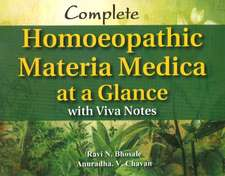 Complete Homoeopathic Materia Medica at a Glance: with Viva Notes