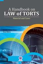 Handbook on Law of Torts: Material & Cases