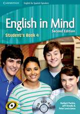 English in Mind for Spanish Speakers Level 4 Student's Book with DVD-ROM