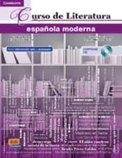 Curso de Literatura española moderna + CD + ELEteca Access