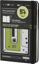Audio Cassette Plain Pocket Notebook:  Black/Green