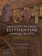 Leatherwork from Elephantine (Aswan, Egypt): Analysis and Catalogue of the Ancient Egyptian & Persian Leather Finds