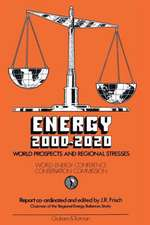 Energy 2000–2020: World Prospects and Regional Stresses