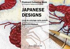 Japanese Designs:  Postcard Colouring Book