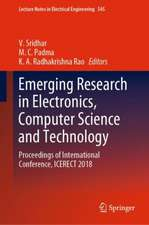 Emerging Research in Electronics, Computer Science and Technology: Proceedings of International Conference, ICERECT 2018