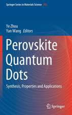 Perovskite Quantum Dots: Synthesis, Properties and Applications