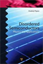Disordered Semiconductors:  Physics and Applications