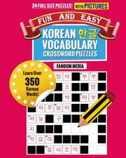 Fun and Easy Korean Vocabulary Crossword Puzzles